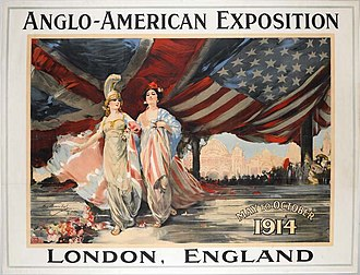 Anglo-American Exhibition - Poster for the Anglo American Exhibition of 1914