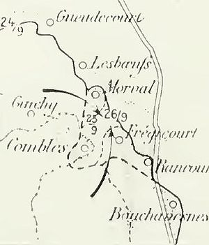Capture of Combles - Image: Anglo French attack at Combles, Somme, 25 September 1916