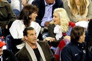 Gavin Rossdale - Rossdale and then-wife Gwen Stefani sitting with Anna Wintour and Mirka Federer at the 2010 US Open