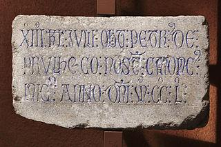 Épitaphe de Petr de Prulhaco