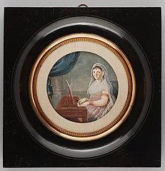 Portretminiatuur van Margaretha Elisabeth Bartlo