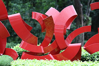 Anthony Poon - One of Poon's four Sense Surround sculptures (2006), which were commissioned by and installed outside the St. Regis Singapore