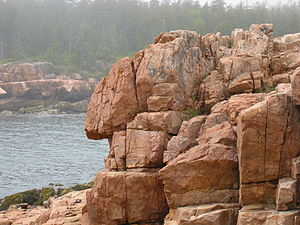 A coastal rock formation that looks like...som...