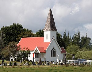 Kaikohe - The Aperahama Church, named after Aperahama Te Awa who is buried in the churchyard.