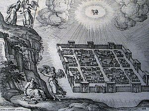 New Earth (Christianity) - File:Apocalypse 42. A new heaven and new earth. Revelation 21 v 29. Borcht. Phillip Medhurst Collection.jpg