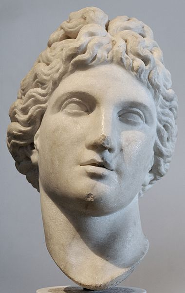 the greek mythological deity Apollo, in honor of whom the Pythian Games were held (1st–4th century AD) - Ancient Pythian Games