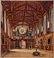 Aquarel uit 1842 van de Gotische Zaal.jpg