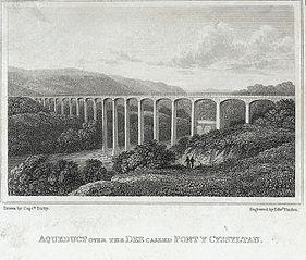 Aqueduct over the Dee called Pont y Cyssyltau