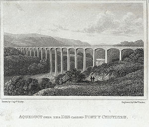 Pontcysyllte Aqueduct - (1823 engraving)