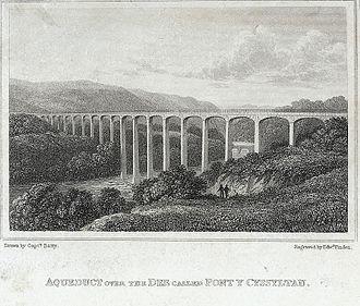 Pontcysyllte Aqueduct - 1823 engraving