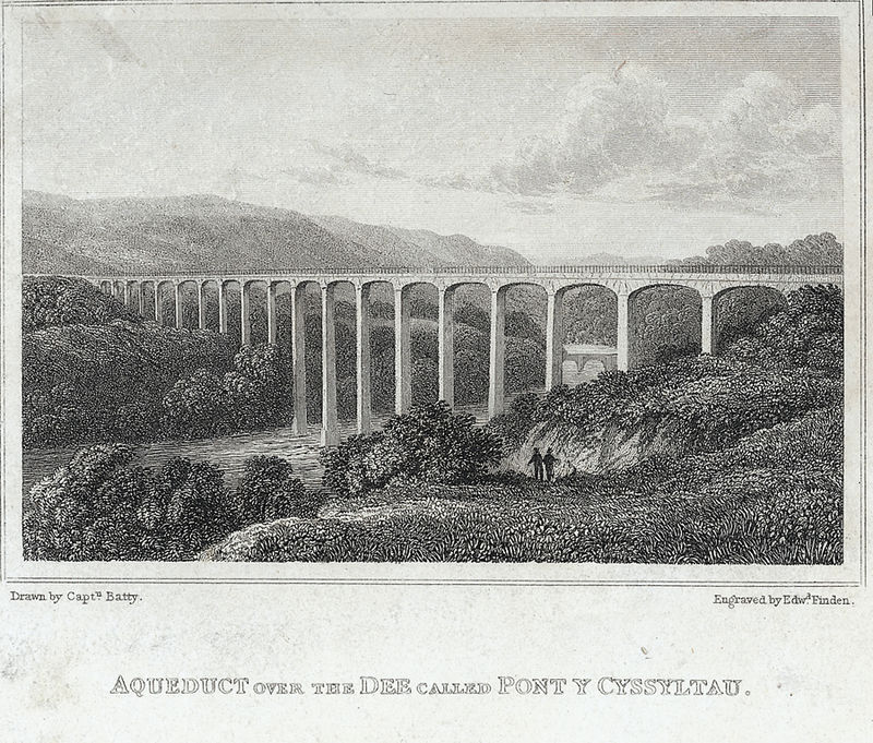 Aqueduct over the Dee called Pont y Cyssyltau.jpeg