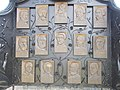 Aradi martyrs memorial, wooden reliefs in Erzsébettelep, Gyömrő, Pest County, Hungary.jpg