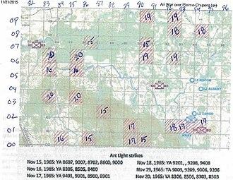 Pleiku Campaign - B-52 strike on NVA troop positions, November 15–20