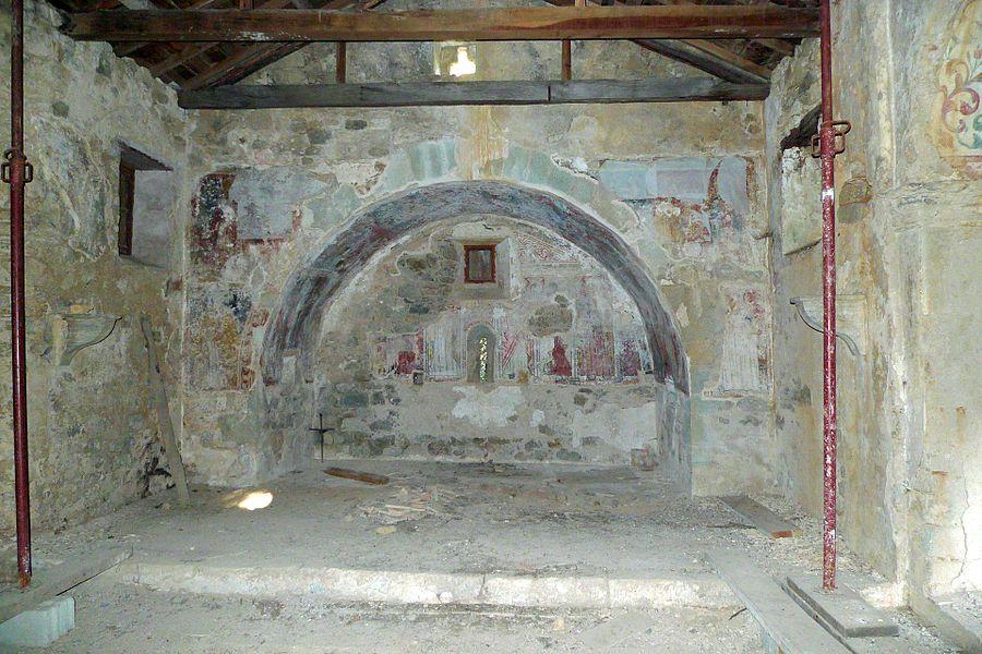 Intérieur de la Chapelle Santa Maria d'Arca en 2012