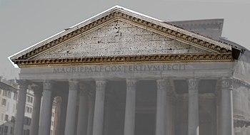 Timpano architettura wikipedia for Architettura e design roma