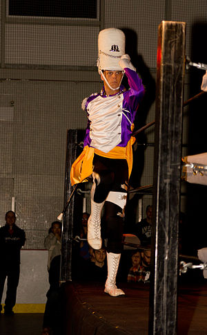 Robert Evans (wrestler) - Peck making his entrance in March 2012