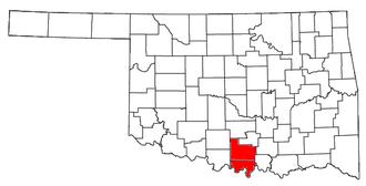 Ardmore, Oklahoma micropolitan area - Location of the Ardmore Micropolitan Statistical Area