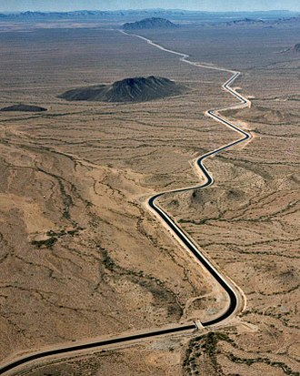 Water supply network - The Central Arizona Project Aqueduct transfers untreated water