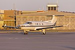 Armada Aviation (VH-XAQ) Pilatus PC12-45 taxiing at Wagga Wagga Airport.jpg