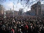 2008 թ. մարտի 1-ին ցուցարարների բազմություն Ս․Շահումյանի հրապարակում