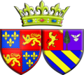 Armoiries de la Princesse Emmanuelle de Bourbon, duchesse d'Aquitaine.png