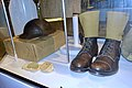 Army uniforms of Norway Post WW2 1945-1950s British Battle dress Brodie helmet Ankle boots Anklets gaiters Khaki web colour Pack etc. Tysklandsbrigaden Armed Forces Museum (Forsvarsmuseet) Oslo 2020-02- 3093.jpg