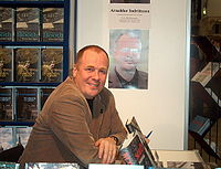 Arnaldur Indriðason at the Helsinki Book Fair, Finland, 2004