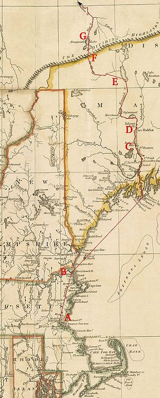 Benedict Arnold's expedition to Quebec - Image: Arnold Expedition Route Marked