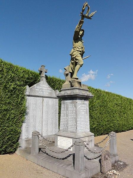 Arrancy-sur-Crusne (Meuse) monument aux morts au cimetière militaire