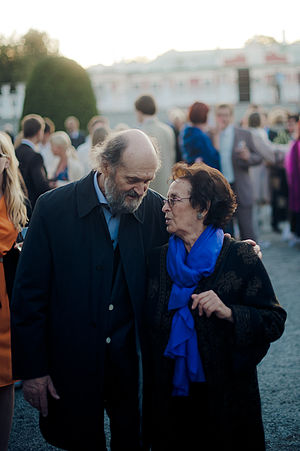 Arvo Pärt - Pärt with his wife Nora in 2012