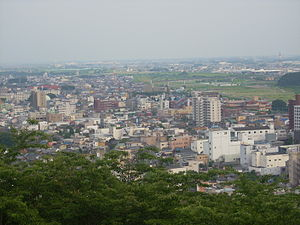Ashikaga, Tochigi - Ashikaga from Nearby Mountain