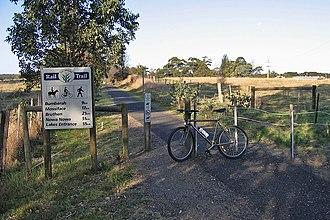 East Gippsland Rail Trail - Heading east along the rail trail at Nicholson, 9km from Bairnsdale