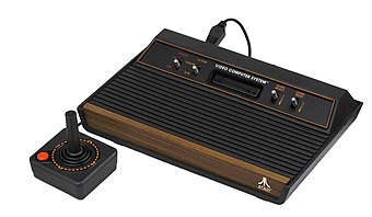 The Atari 2600 became the most popular game console of the second generation. Atari-2600-Wood-4Sw-Set.jpg