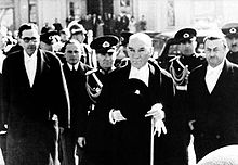 Atatürk is entering to the Grand National Assembly of Turkey, 1936.jpg
