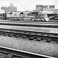 Atchison, Topeka, and Santa Fe, Diesel Electric Passenger Locomotive No. 14, Behind Dallas Morning News Building (15473365699).jpg