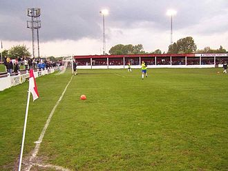 Atherstone Town F.C. - Players warm-up for the 2009 Southern League play-off semi-final vs Chasetown.