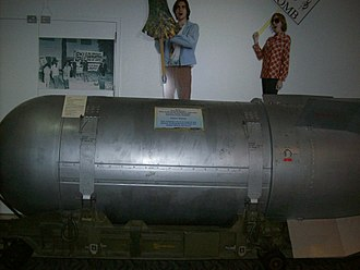 National Atomic Testing Museum - B53 nuclear bomb on display