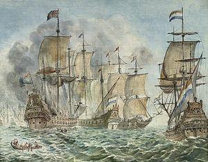 Attrib. to Martinus Schouman - Een Britse en Nederlandse zeeslag.jpg