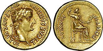 Tiberius - Aureus of Tiberius, c. 27-30 AD