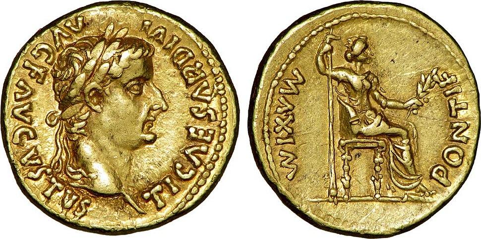 Aureus à l'effigie de Tibère