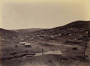 Austin, Nevada - Austin in 1868. Photo by Timothy H. O'Sullivan.