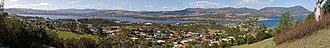 Austins Ferry, Tasmania - Image: Austins Ferry and Derwent River from Poimenna Reserve