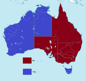 Australian conscription referendum, 1917 - Image: Australian referendum results by states, 1917
