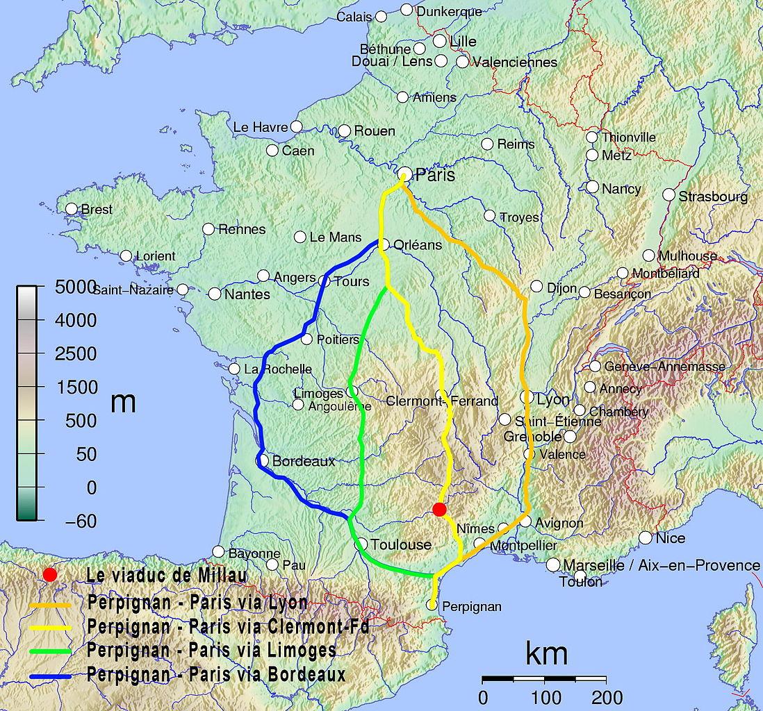 Fileautoroutes Nord Sud Et Viaduc De Millaujpg Wikimedia