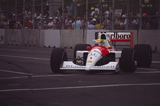 1991 United States Grand Prix - Ayrton Senna took a comfortable win in his McLaren MP4/6.