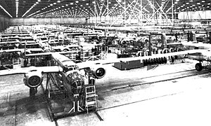 Fairfax Field - Image: B 25 Mitchell assembly line 1944