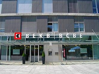 Banking in Switzerland - A cantonal bank near Bern