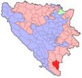 BH municipality location Bileca.png
