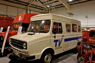 Television licensing in the United Kingdom - A Leyland Sherpa television detector van.