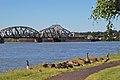 BNSF Ry. Bridge 9.6, Oregon shore with geese.jpg